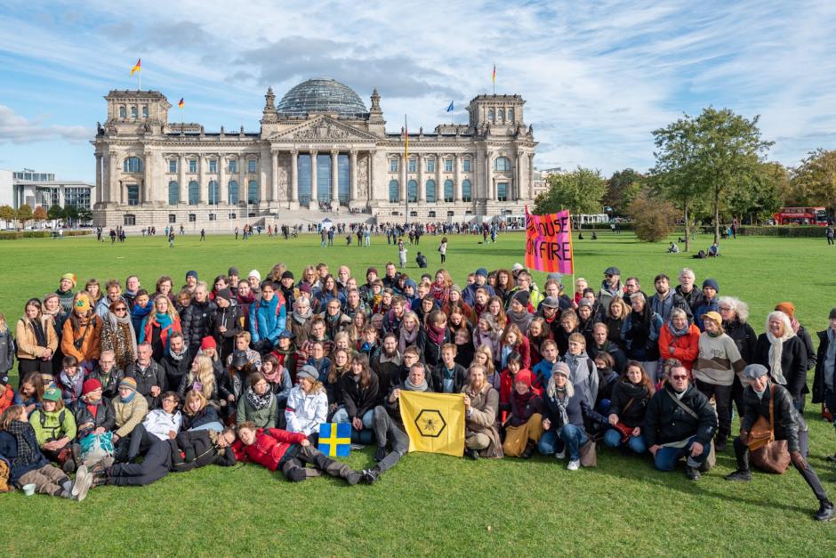 XR Sweden at the end of #BerlinBlockieren.