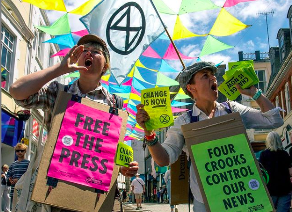 Free The Press; Extinction Rebellion; 2021